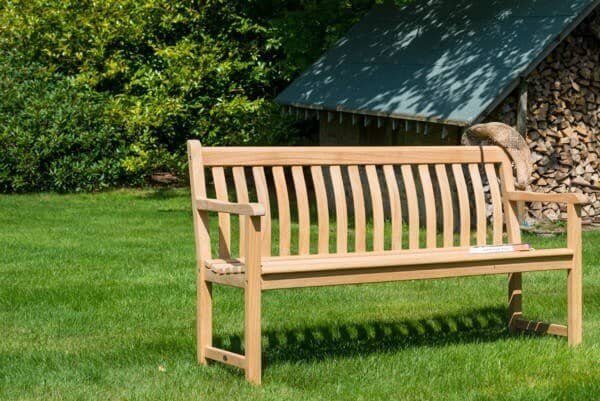 Holz Bank Broadfield 3-Sitzer Roble