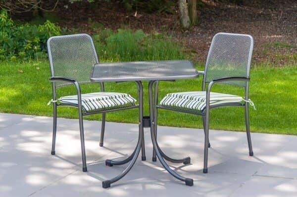 Metall Sitzgruppe Portofino 2-Personen Bistro Grau