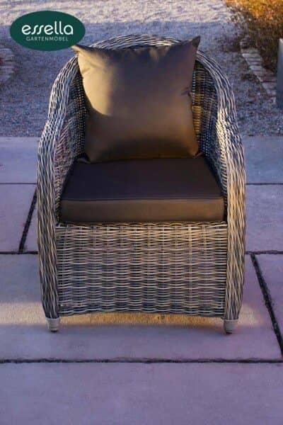 Sessel Dubai mit runder Rückenlehne von Essella bei Gartenmode