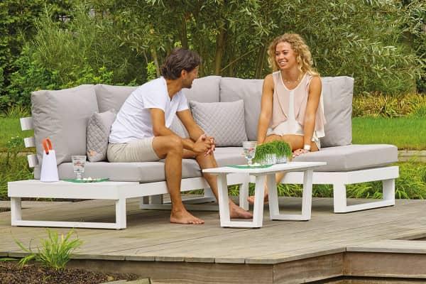 Aluminium Ecklounge Ibiza 4 Personen bei Gartenmode links
