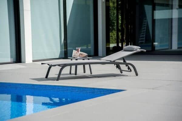 Aluminium Textilene Sonnenliege Portofino Lite