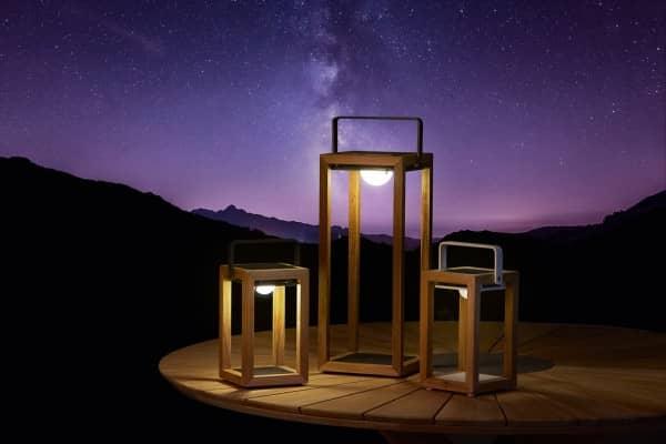 Teakholt Solarleuchte Best-Light anthrazit