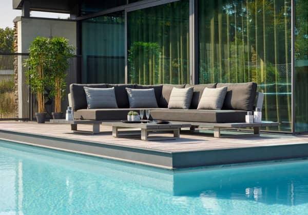 Aluminium Lounge Fitz Roy 5-Personen links Grau Matt Comforma Basalt
