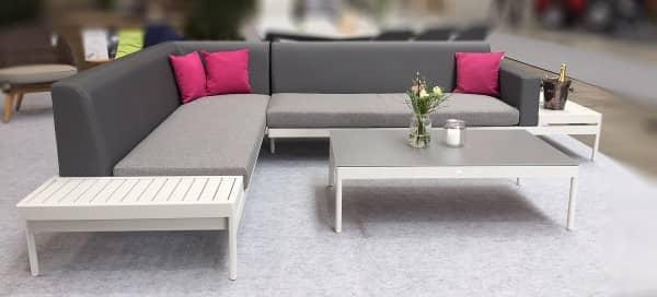 Ausstellungsstück - Aluminium Lounge Leana 6-Personen