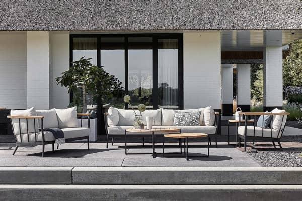 Große Apple Bee Aluminium mit Teak Lounge Condor in Set bei Gartenmode