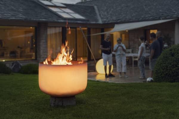 Glasfeuerschale Quarzglasfeuerschale Feuerschale QFlame