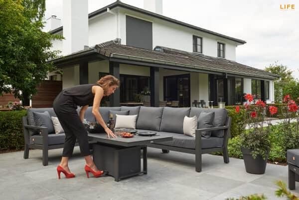 Aluminium Lounge Timber Lava