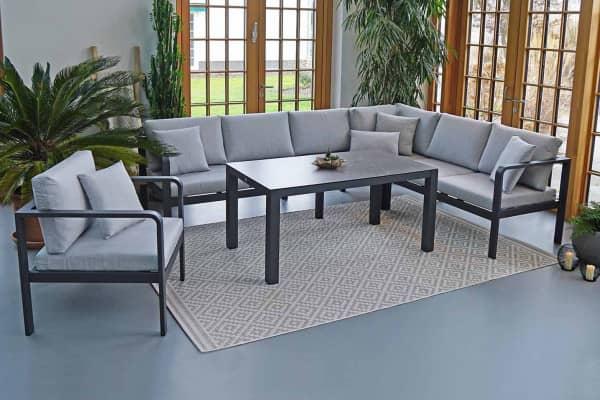 Aluminium Outdoor Dining-Lounge Cleveland 6-Personen