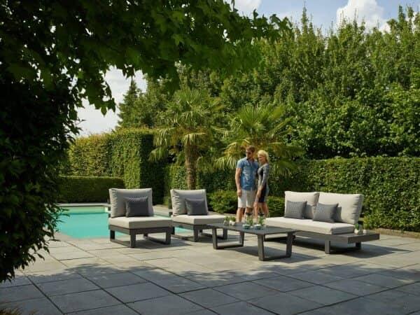 Aluminium Lounge Ibiza 4-Personen Lava