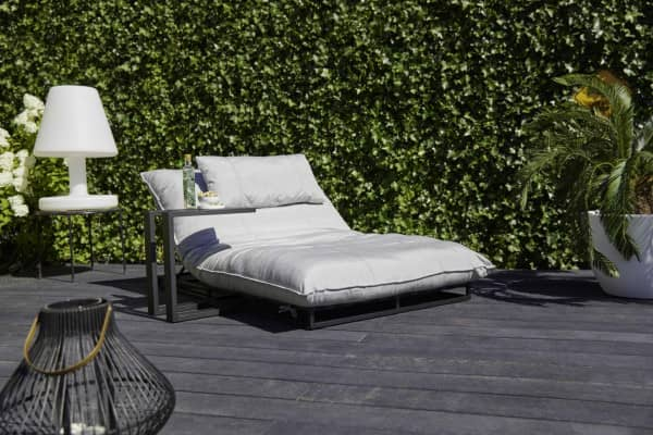 Aluminium Sonnenliege Emma - Lounge Bed mit Sunbrella bei Gartenmode