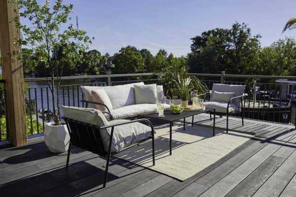 Aluminium Lounge Jeremy mit Couch-Tisch bei Gartenmode